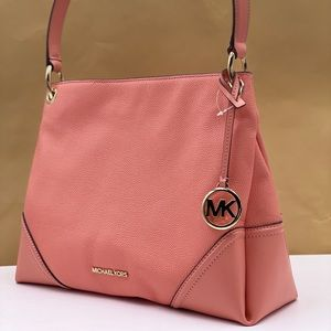 Michael Kors Nicole MD Shoulder Bag Peach